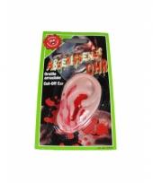 Afgehakt oor met opgedroogd bloed