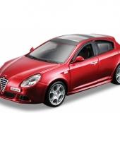 Alfa romeo giulietta rood schaalmodel 1 32