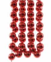 Ambiance christmas rode kerstversiering grote kralenslinger 270 cm