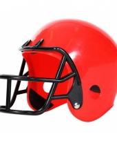 American football helm rood voor kinderen