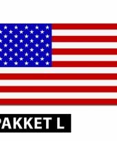 Amerika feestartikelen pakket groot