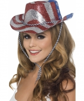 Amerika glitter party hoed