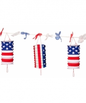 Amerika slingers met lampionnen