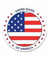 Amerika stickers 14 8 cm