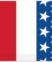 Amerika thema servetjes 16 stuks