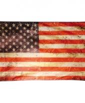Amerikaanse vintage vlag 150 x 90 cm