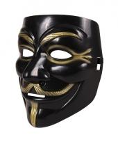 Anonymous masker zwart