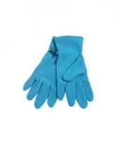 Aqua fleece handschoenen voor dames en heren