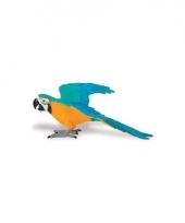 Ara papegaai geel van plastic 10 cm