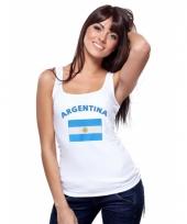 Argentijnse vlag tanktop singlet voor dames