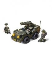 Army jeep bouw blokjes