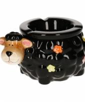 Asbak hond van keramiek 15 cm