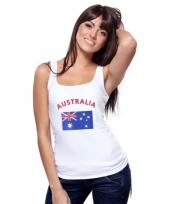 Australische vlag tanktop singlet voor dames