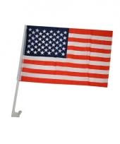 Auto vlaggetje amerika 30 x 45 cm