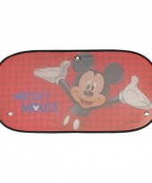 Auto zonwering micky mouse rood