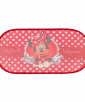 Auto zonwering minnie mouse rood