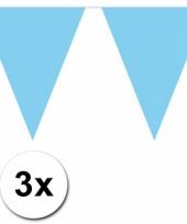 Baby blauwe vlaggenlijnen 3 x