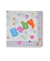 Baby feest servetten 16 cm