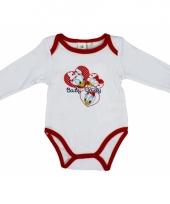 Baby kado katrien rompertje wit rood
