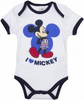Baby kado mickey rompertje wit