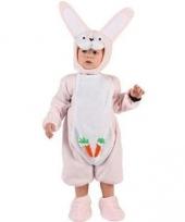 Baby kostuum roze konijntje