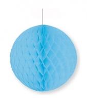 Babyblauwe decoratie bal 10 cm brandvertragend