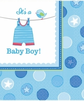 Babyshower servetten its a baby boy