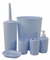 Badkamer accessoiressetje blauw 6 delig