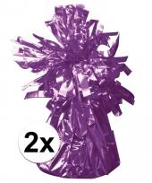 Ballon gewichten paars 2 stuks