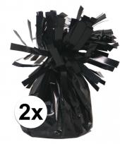 Ballon gewichten zwart 2 stuks