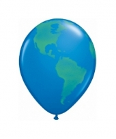 Ballon met wereldbol afbeelding 40 cm