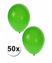 Ballonnen groen 50 stuks