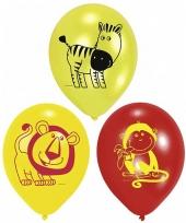 Ballonnen met verschillende dieren erop