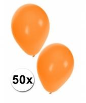 Ballonnen oranje in zakje 50 stuks