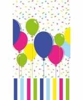 Ballonnen print tafelkleed tafellaken gekleurd 120 x 180 cm van papier