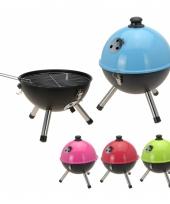 Balvormige barbecue blauw 33 cm