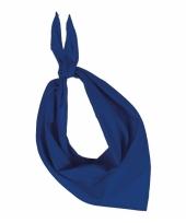 Bandana zakdoeken kobalt blauw