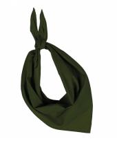 Bandana zakdoeken olijf