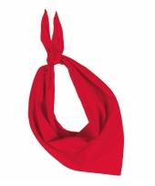 Bandana zakdoeken rood