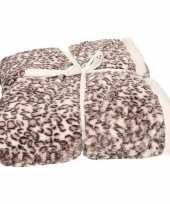 Bankdeken baby sneeuwpanter print antraciet 140 x 200 cm