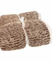 Bankdeken bruin gemeleerd 140 x 200 cm