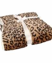 Bankdeken bruine cheetah print 140 x 200 cm