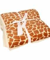 Bankdeken giraf print 140 x 200 cm