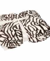 Bankdeken zebra print 140 x 200 cm 10135817