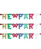 Banner letter v mettalic