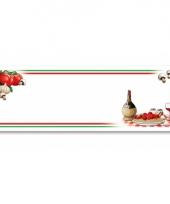 Banner met italiaans eten thema