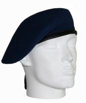Baret van een soldaat marine blauw