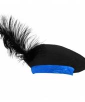 Baret zwart blauw voor kinderen