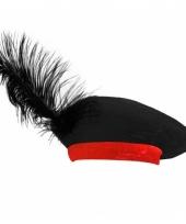 Baret zwart rood voor kinderen