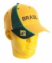 Baseballcap brazilie geel groen